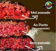 Ponto do Hambúrger - Quais os pontos da carne possíveis para um hambúrguer?